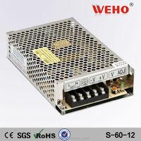 S-60-12 60w 12v power supply adapter ac dc transformer 12v 5a