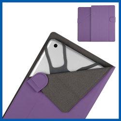 C&T Purple slim magnetic pu leather case for ipad mini