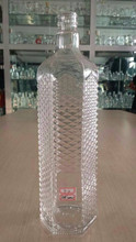 Decorative vodka liquor empty 1 liter glass bottles