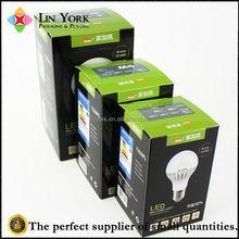 Custom printed black 300 gsm paper led light packaging box
