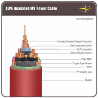 Multi-core 11kV High Voltage XLPE insulation Power Cable