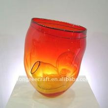 Low Price Colored Murano Antique Vases Red Glass