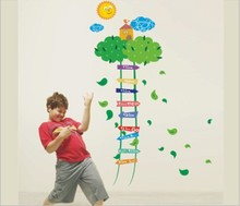 Growth Char Tree Ladder Height Chart Wall Vinly Decal Decor Sticker Removable Wall Decal Super for Nursery Children's Bedroom
