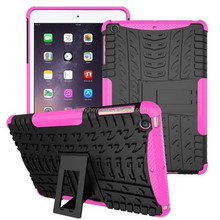 hybrid combo heavy duty holster kickstand pc +tpu shockproof case cover for ipad mini
