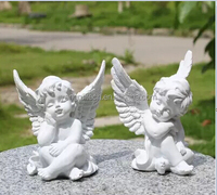 European craft resin sculpture white angel miniature fairy figurines garden or home decoration arts and crafts