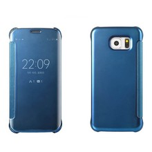 New Mirror Flip Hard PC Clear Case Cover Back For Samsung Galaxy S6 / S6 Edge