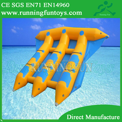 Beautiful inflatable water flyfish banana boat toys for sale