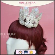 Lace/rhinestone bridal flower tiara crown wedding hair accessories