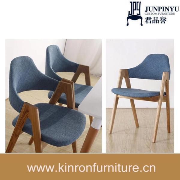 De madera maciza de la tela de colores sillas de comedor moderno ...