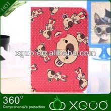 lovely bear for ipad mini hot leather case(xguo01)