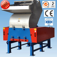 waste plastic grinding machine/PE bottle rubber recycled plastic crusher