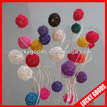 popular beautiful natural colorful rattan ball