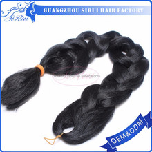 Heat resistant kanekalon synthetic hair braid, kanekalon synthetic hair for braids, kanekalon synthetic hair jumbo braid