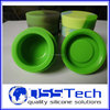 Platinum cured 3ml silicone containers dab, silicone jars dab wax vaporizer oil container wholesale