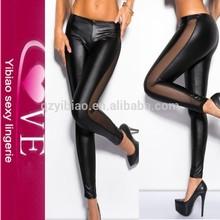 Alta calidad que adelgaza las polainas mayorista Hot Sexy Girls Leggings fotos Cuero Negro Niñas Leggi
