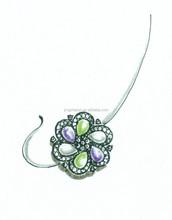 jade charm, gold plated charm, dangle earring charm
