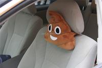 2015 Factory wholesale soft plush poop emoticon car seat neck pillow