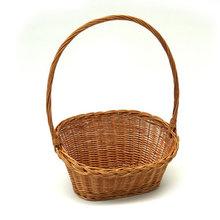 Wicker knitting display or gift basket