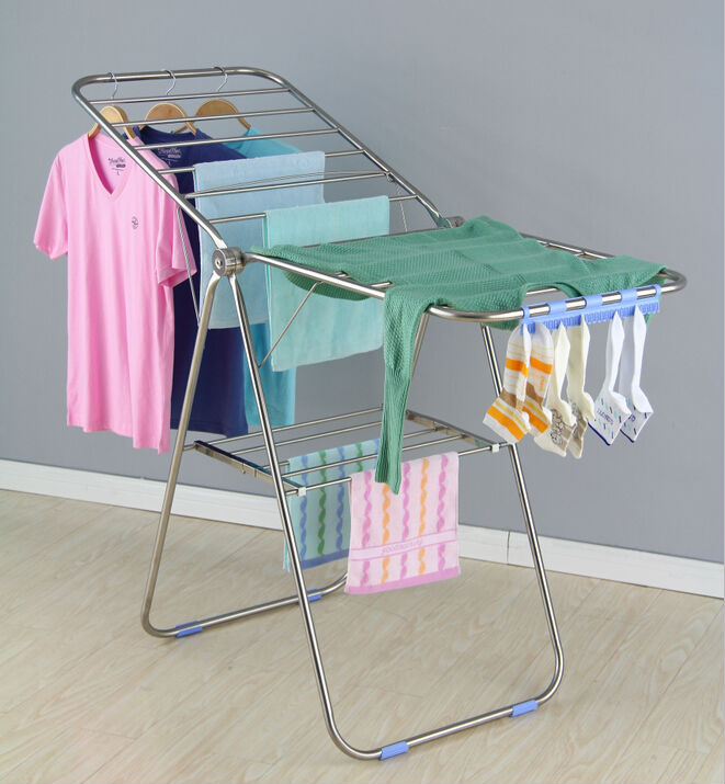 Youlite Rotating Clothes Rack Balcony Clothes Drying Rack