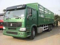 china howo brand new 6x4 fence van cargo truck