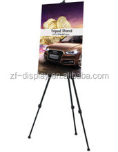 Folding retractable easel tripod poster stand