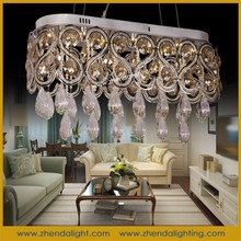 Modern style led ceiling light & custom made pendant chandelier with cognac crystal beads