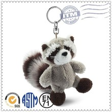 Cute style Lower cost super soft plush animal keychain toy