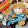 New design and hot sale monkeys promotional plush keychain crafts