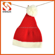 Superior quality handmade large scale adult knitting christmas hat, crochet hat