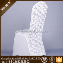 White lycra spandex rosette chair covers and table covers china wholesale chair cover wedding