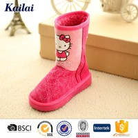 cute hello kitty plum warm baby shoes for hiking