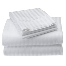 100% Egyption cotton plain white hotel bed sheets