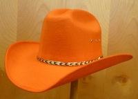 orange wool felt cowboy hat