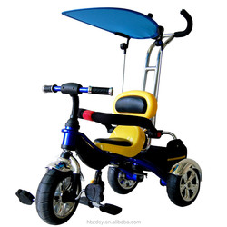 New style mom and baby tricycle kids tricycle with umbrella yellow color