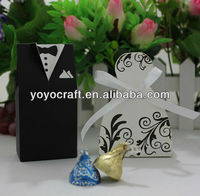 """Wedding Favors Boxes """"Bride and Groom""""Wedding Chocolate packaging Boxes"""