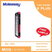 Delicate slim pc tpu flip cover for iphone 6 plus