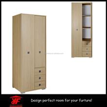 Hot Sale Oak Wall to Wall Fancy Bedroom Wardrobe with Sliding Doors