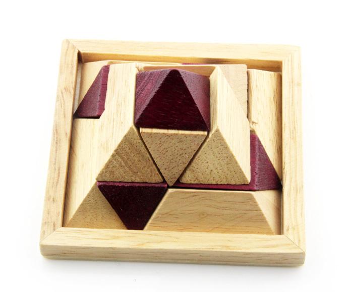 Conception drôle adulte éducatifs en bois 3d puzzle