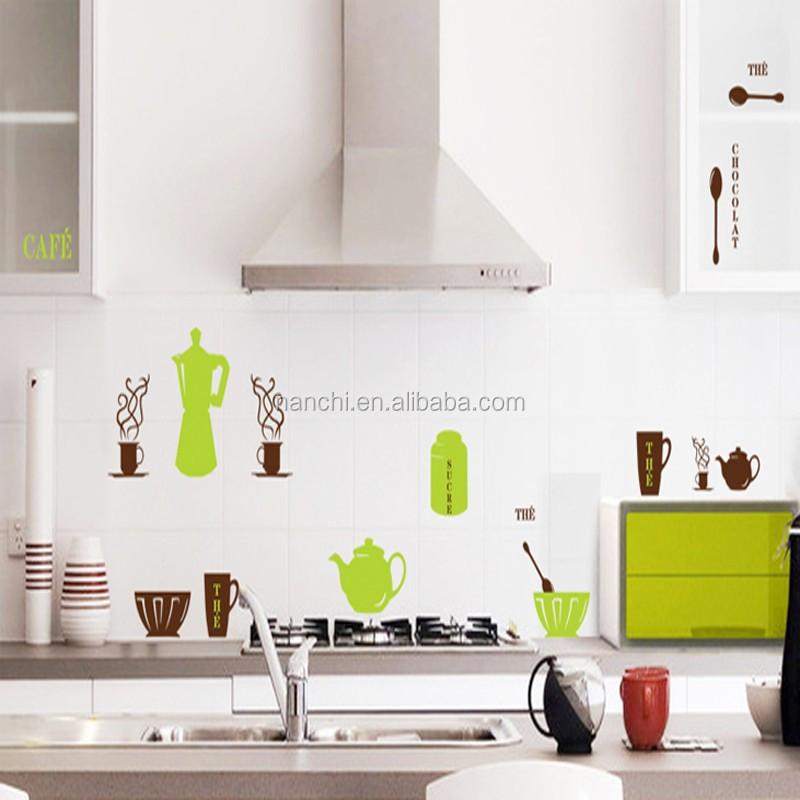 Awesome meubles pour la cuisine caf dcor wall sticker home - Stickers pour la cuisine ...