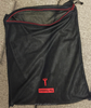PE material zippered laundry bag with PP rope