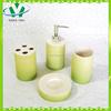 Wholesale gift set new ceramic bathroom accessory