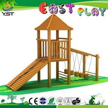 school novelty nice adventure wooden palace outdoor playground set
