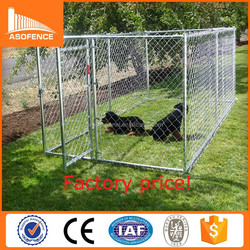 Large outdoor stainless steel dog kennel cage for dogs steel