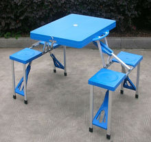 cheap blue plastic folding table(blow mould, HDPE, outdoor,banquet,camping)