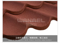 Alu Metal Roof Tile Light weight with robust structure, eco friendly,lower installation cost, beautiful apperance and stable.