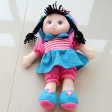 Wholesale beautiful girl plush soft toy with cloth stuffed plush toy,plush mini real doll