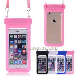 high quality Mand in China pvc waterproof case for iphone 6 plus, custom plastic waterproof cell phone case