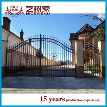 2015 new models galcanized cast iron square tube main gate design