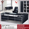 Black color emboss malemine classic style executive desk