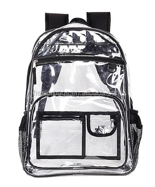 2015 gros de pvc transparent sac à dos avec le style chaud